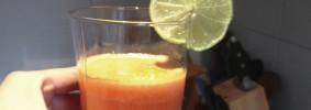 Receta de jugo de zanahoria y limón